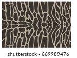 tiger shark skin texture band... | Shutterstock .eps vector #669989476