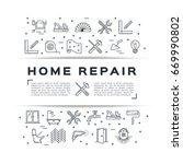home repair flyer construction...   Shutterstock .eps vector #669990802