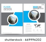 abstract vector modern flyers... | Shutterstock .eps vector #669996202