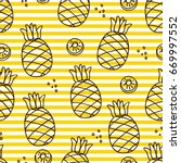 seamless pattern with  line... | Shutterstock .eps vector #669997552