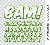 creative high detail comic font.... | Shutterstock .eps vector #670007275