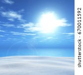 3d render of a summer landscape ... | Shutterstock . vector #670011592