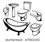 the sanitary technician set | Shutterstock .eps vector #67002103