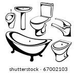 the sanitary technician set | Shutterstock .eps vector #67002103