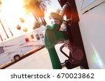 fuel pump | Shutterstock . vector #670023862