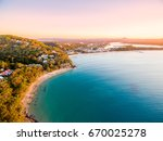an aerial view of noosa... | Shutterstock . vector #670025278