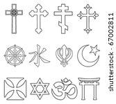 religious symbols. | Shutterstock .eps vector #67002811