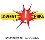 red and yellow icon lowest... | Shutterstock .eps vector #67003327