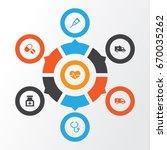 antibiotic icons set.... | Shutterstock .eps vector #670035262