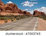 Arches national Park Arches And Monoliths - stock photo