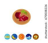 basturma food icon | Shutterstock .eps vector #670038226