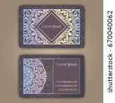 luxury business cards with... | Shutterstock .eps vector #670040062