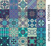 seamless pattern with... | Shutterstock .eps vector #670041046
