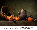 Still Life With Persimmons And...