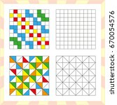 worksheet for preschool kids.... | Shutterstock .eps vector #670054576