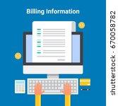 flat vector of billing... | Shutterstock .eps vector #670058782
