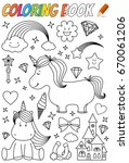 Unicorn Coloring Book Template
