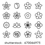 flower icon set vector... | Shutterstock .eps vector #670066975