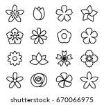 flower icon set vector... | Shutterstock .eps vector #670066975