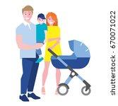happy family portrait. fun... | Shutterstock .eps vector #670071022