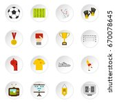 soccer football icons set in... | Shutterstock . vector #670078645