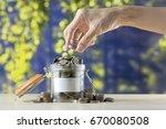 saving money  money growing ...   Shutterstock . vector #670080508