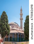 Small photo of RHODES, GREECE - APRIL 23, 2017 ; Old suleman mosque in the city center.