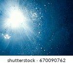 underwater bubbles with... | Shutterstock . vector #670090762