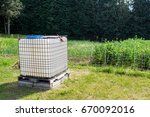 square plastic water tank in... | Shutterstock . vector #670092016
