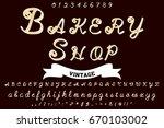 font handwritten vector... | Shutterstock .eps vector #670103002