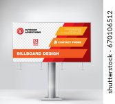 the billboard layout for...   Shutterstock .eps vector #670106512