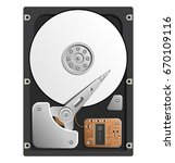 vector illustration of the hdd. ...