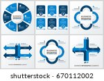business infographic diagrams... | Shutterstock .eps vector #670112002