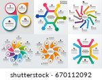 business infographic diagrams... | Shutterstock .eps vector #670112092