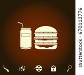 fast food simple vector icon....