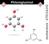 phloroglucinol   poly phenol... | Shutterstock .eps vector #670116142