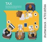entrepreneurs submit financial... | Shutterstock .eps vector #670118566