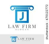 law firm initial letter j logo... | Shutterstock .eps vector #670122772