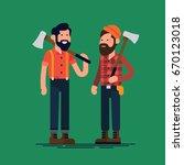 creative flat character design... | Shutterstock .eps vector #670123018