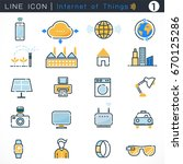 internet of things icons set... | Shutterstock .eps vector #670125286