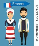 national costume of france. a... | Shutterstock .eps vector #670127506