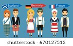 a set of national costumes.... | Shutterstock .eps vector #670127512