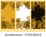 vertical watercolor frame set... | Shutterstock . vector #670128412