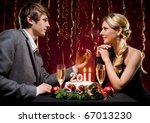 new year's eve of two beautiful ... | Shutterstock . vector #67013230