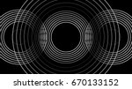 three cycles sound wave | Shutterstock .eps vector #670133152