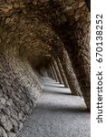 tunnel passage with pillars... | Shutterstock . vector #670138252