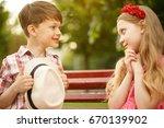 cute little couple of kids.... | Shutterstock . vector #670139902