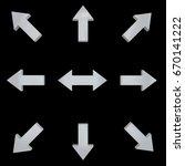 light arrows. directed in... | Shutterstock . vector #670141222