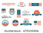 4th of july  happy independence ... | Shutterstock .eps vector #670143406