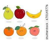 fruit character  | Shutterstock .eps vector #670145776